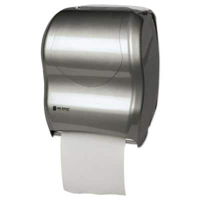 Silver Tear-N-Dry Touchless Roll Paper Towel Dispenser