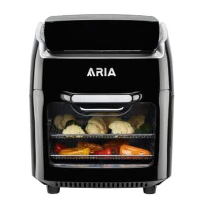 Aria 10 Qt. Black AirFryer with Recipe Book