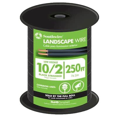 250 ft. 10/2 Black Stranded CU Low-Voltage Landscape Lighting Wire