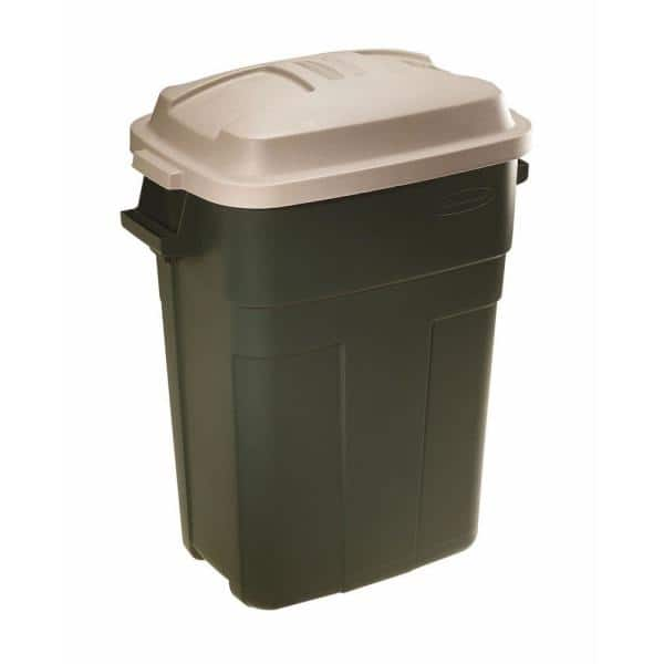 Rubbermaid Roughneck 30 Gal Evergreen, Rubbermaid Outdoor Garbage Can With Lid