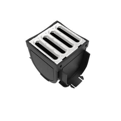 5 in. x 5 in. Metal 4-Way Adapter with Galvanized Grate