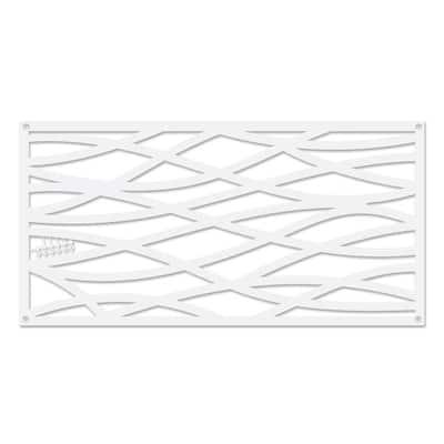 Wave 48 in. x 24 in. White Polypropylene Multi-Purpose Decorative Panel