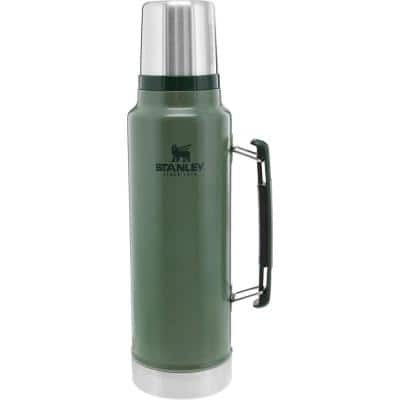 Classic 48 oz. Hammertone Green Stainless Steel Vacuum Insulated Thermos