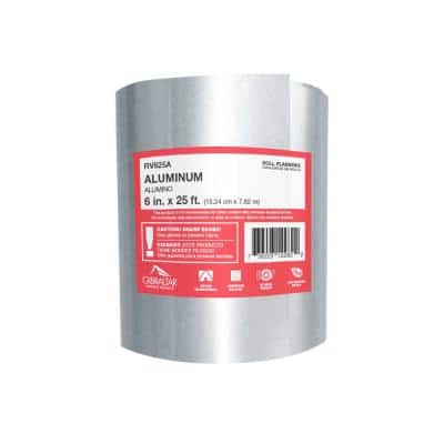 6 in. x 25 ft. Aluminum Roll Valley Flashing