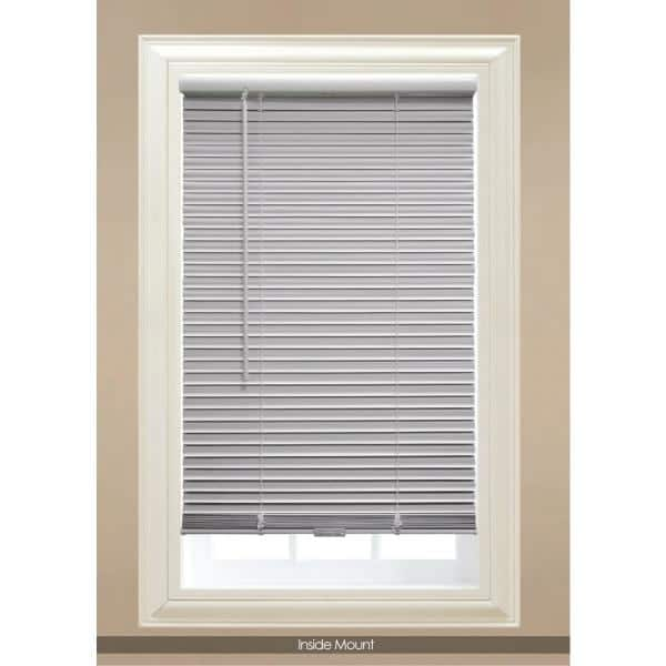 Hampton Bay White Cordless Blackout 1 In Vinyl Mini Blind For Window Or Door 22 In W X 48 In L 10793478390441 The Home Depot