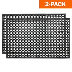 36 in. x 60 in. Industrial Rubber Commercial Floor Mat (2-Pack)