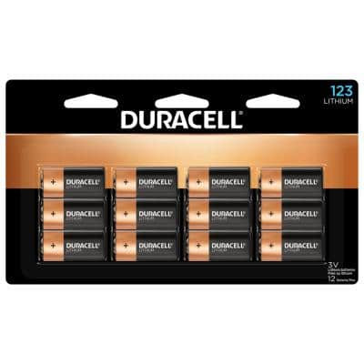 123 High Power Lithium Batteries - 12 count