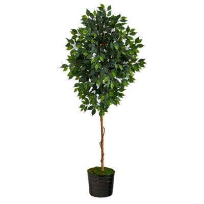 Ficus Artificial Plants Artificial Greenery The Home Depot
