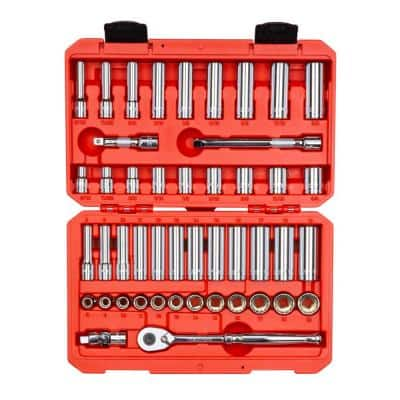 3/8 in. Drive 12-Point Socket and Ratchet Set (47-Piece)