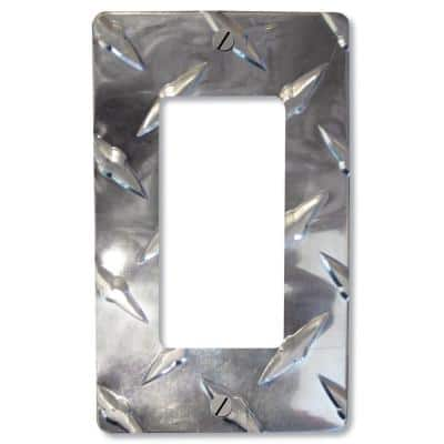 Chrome 1-Gang Decorator/Rocker Wall Plate (1-Pack)
