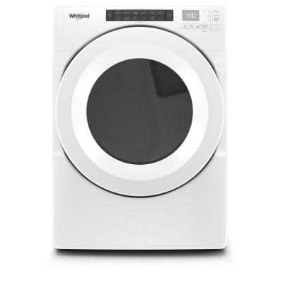 7.4 cu. ft. 240 Volt Stackable White Electric Ventless Dryer with Intuitive Touch Controls, ENERGY STAR