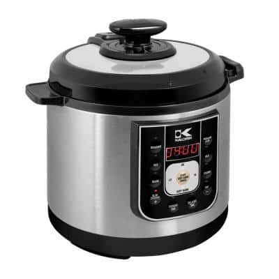 Perfect Sear 6.25 Qt. Black Stainless Steel Electric Pressure Cooker