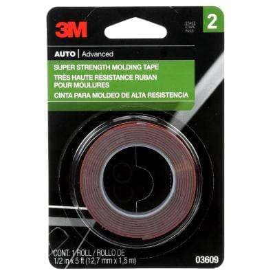 1/2 in. x 1.66 yds. Super Strength Molding Tape (Case of 24)