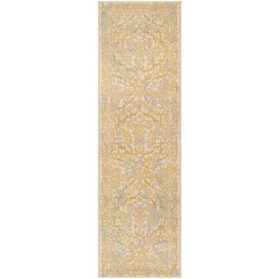 Evoke Ivory/Gold 2 ft. x 7 ft. Runner Rug