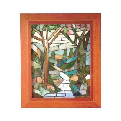 Springdale 10 in. H Waterbrook Mosaic Art Glass Wall Panel