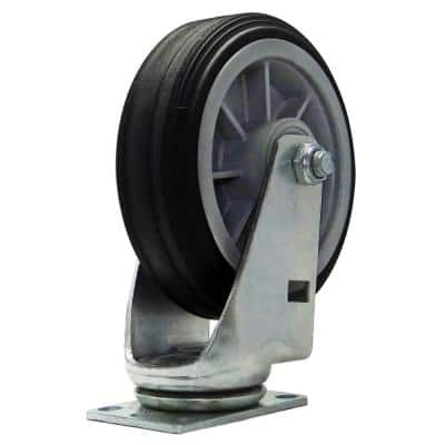 All-Terrain 6 in. Swivel Plate Caster with 375 lbs. Load Rating
