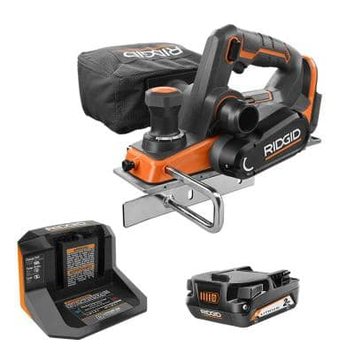 18V OCTANE Brushless Cordless 3-1/4 in. Planer Kit with Edge Guide, Dust Port, (1) 2.0Ah Battery and Charger
