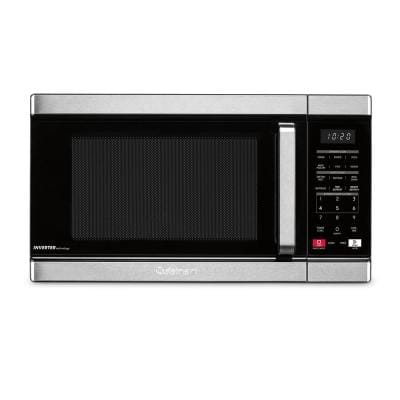 1.1 cu. ft Counter Top Microwave with Sensor Cook and Inverter Technology in Black and Stainless steel