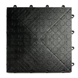 12 in. x 12 in. Coin Black Modular Tile Garage Flooring (24-Pack)
