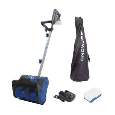 10 in. 24-Volt Cordless Electric Snow Shovel Kit with 4.0 Ah Battery + Charger, Cover Included
