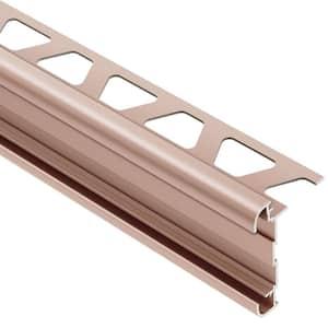 Rondec-CT Satin Copper Anodized Aluminum 5/16 in. x 8 ft. 2-1/2 in. Metal Double-Rail Bullnose Tile Edging Trim