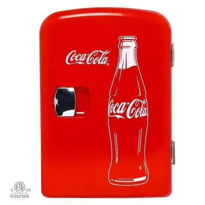 0.14 cu. ft. Classic Portable Mini Fridge in Red without Freezer