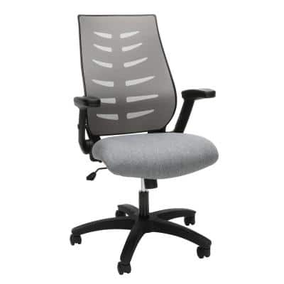 Midback Gray Mesh Office Chair for Computer Desk