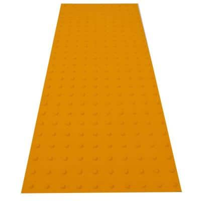 SSTD PowerBond 24 in. x 5 ft. Federal Yellow ADA Warning Detectable Tile (Peel and Stick)