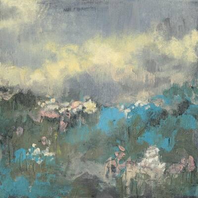"72 in. x 72 in. ""Painterly Field I"" by Jennifer Goldberger Canvas Wall Art"