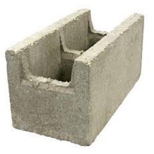 16 in. x 8 in. x 8 in. Normal Weight K.O. Bond Beam Concrete Block