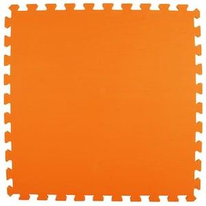 Premium Orange 24 in. x 24 in. x 5/8 in. Foam Interlocking Floor Mat (Case of 25)