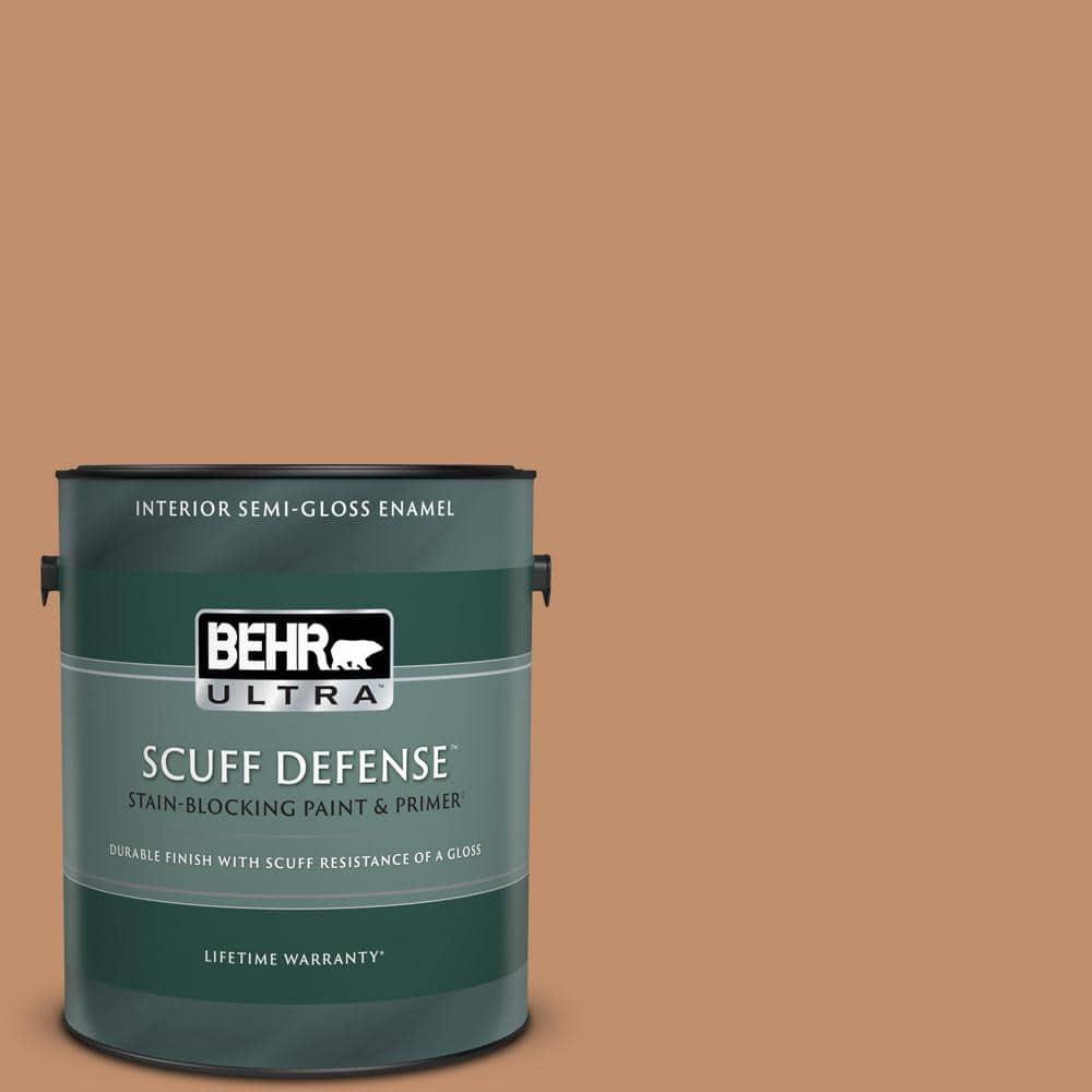 Behr Ultra 1 Gal 260f 5 Applesauce Cake Extra Durable Semi Gloss Enamel Interior Paint Primer 375401 The Home Depot