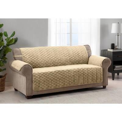 Fairmont Gold 1-piece Diamond Plush XL Sofa Furniture Cover