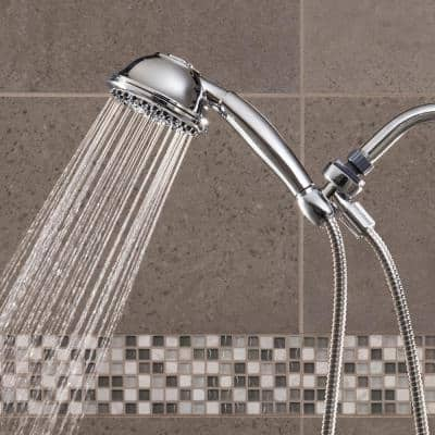 9-Spray 4.5 in. Single Wall Mount 1.8 GPM Handheld Rain Shower Head in Chrome