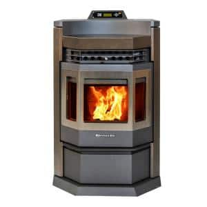 2,800 sq. ft. EPA Certified Pellet Stove in Brown and SS Trim