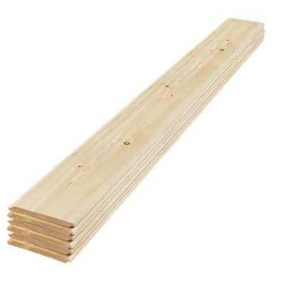 1 in. x 8 in. x 6 ft. Eased Edge Pine Shiplap Board (6-Pack)