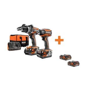 18-Volt Cordless Brushless Hammer Drill & Impact Driver Kit with Bonus 18-Volt 1.5 Ah Lithium-Ion Battery (2-Pack)