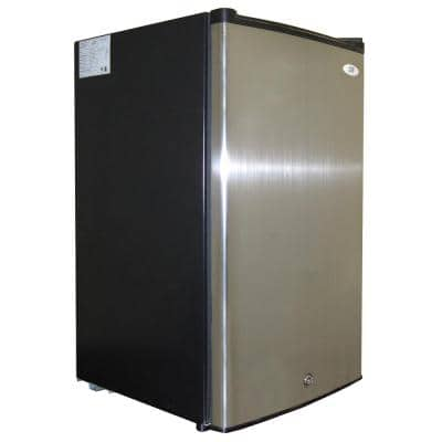 3.0 cu. ft. Upright Freezer in Black/Stainless Steel