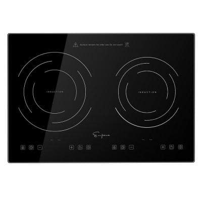 20.5 in. Portable Electric Modular Induction Cooktop Smooth Surface in Black with 2 Elements