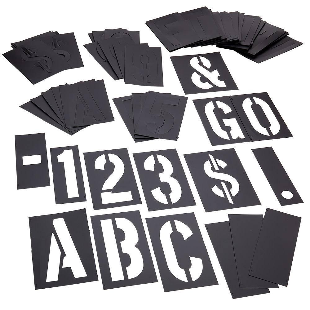 46 Pc Plastic Interlocking Stencil for sale online CH Hanson 10191 1/'/'