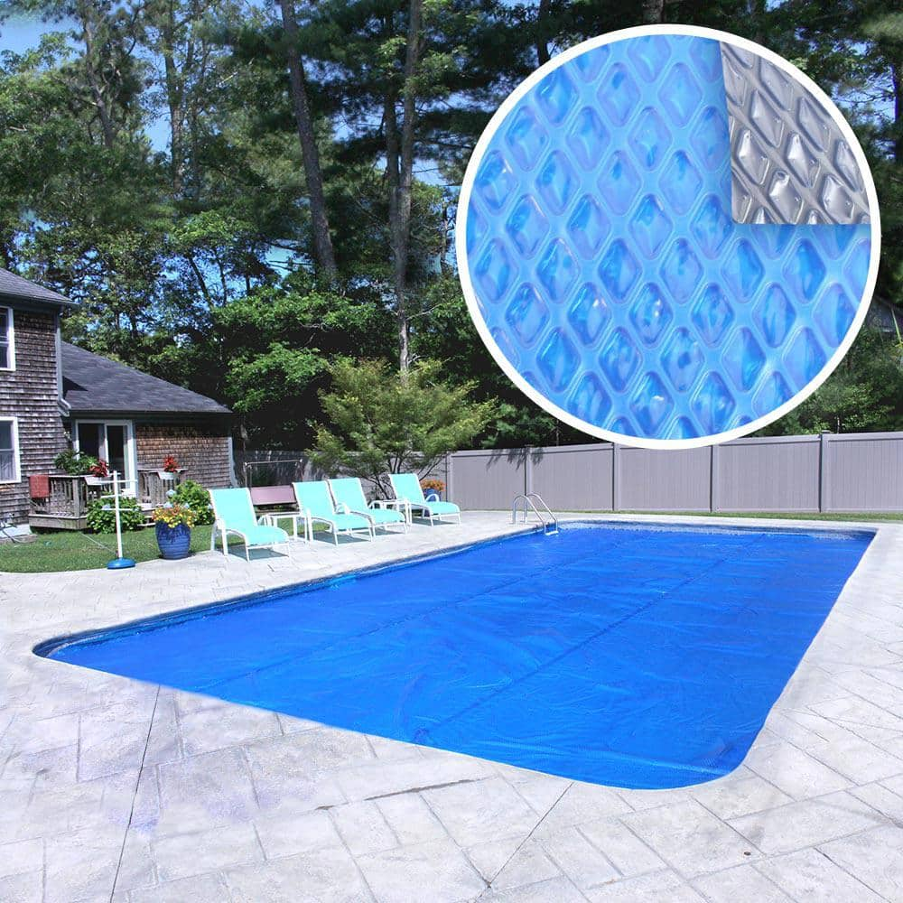 Pool Mate Premium 10 Year 20 Ft X 40 Ft Rectangular Blue Silver Solar Pool Cover 2040rs 10sbd Boxpm The Home Depot