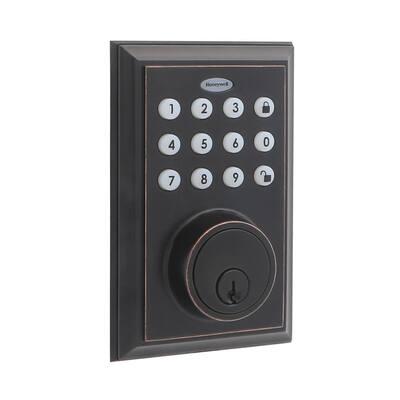 Bluetooth Digital Single Cylinder Deadbolt Lock Oil Rubbed Bronze