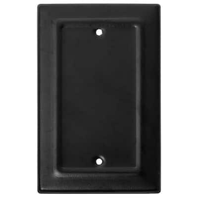 Black 1-Gang Blank Plate Wall Plate (1-Pack)