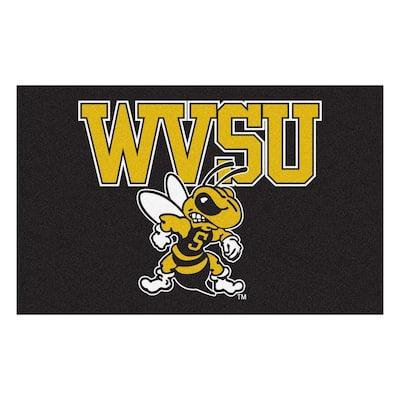 NCAA West Virginia State University Black 5 ft. x 8 ft. Area Rug
