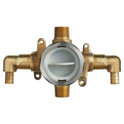 Flash Shower Rough-In Valve with PEX Inlet Elbows/Universal Outlets for Crimp Ring System