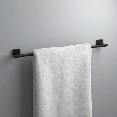 Maxted 24 in. Towel Bar in Matte Black