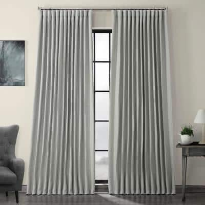 Heather Grey Extra Wide Rod Pocket Sheer Curtain - 100 in. W x 108 in. L