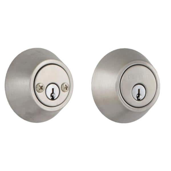 Defiant Stainless Steel Double Cylinder Deadbolt Dl62 The Home Depot
