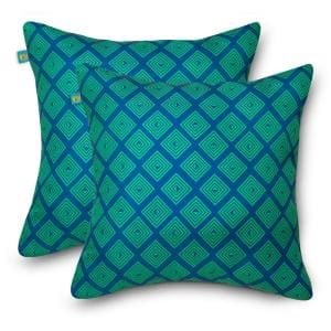 18 in. L x 18 in. W Outdoor Accent Throw Pillows in Topaz Mosaic (2-Pack)