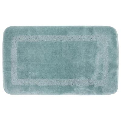 Facet Aqua 24 in. x 40 in. Nylon Machine Washable Bath Mat